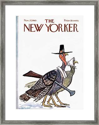 New Yorker November 27th, 1965 Framed Print by Frank Modell