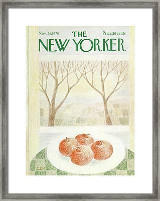 New Yorker November 28th, 1970 Framed Print by Charles E. Martin
