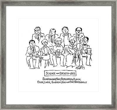 New Yorker November 28th, 1983 Framed Print by Sidney Harris