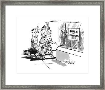 New Yorker November 28th, 1994 Framed Print