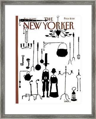 New Yorker November 29th, 1982 Framed Print by Arnie Levin