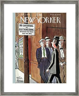 New Yorker November 2nd, 1940 Framed Print by Peter Arno