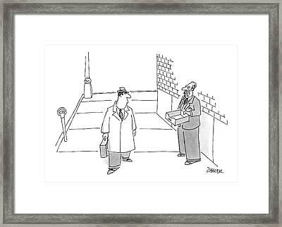 New Yorker November 2nd, 1987 Framed Print by Jack Ziegler