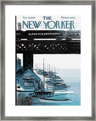 New Yorker November 30th, 1963 Framed Print by Arthur Getz