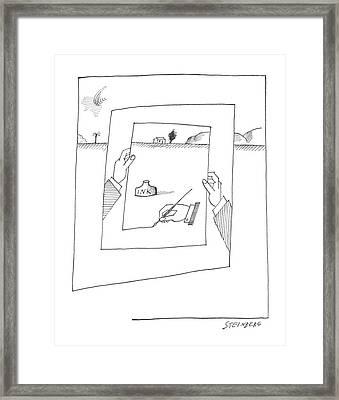 New Yorker November 30th, 1963 Framed Print by Saul Steinberg
