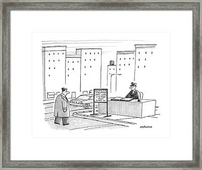 New Yorker November 30th, 1987 Framed Print by Mick Stevens