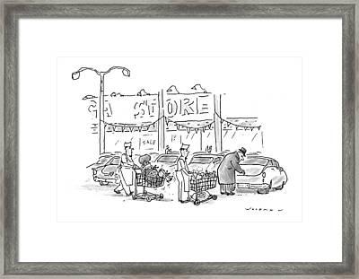 New Yorker November 30th, 1998 Framed Print by Bill Woodman