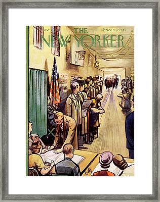 New Yorker November 4th, 1950 Framed Print by Arthur Getz