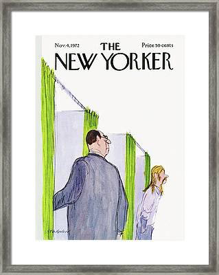 New Yorker November 4th, 1972 Framed Print by James Stevenson