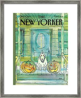 New Yorker November 4th, 1985 Framed Print by George Booth
