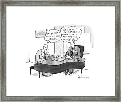 New Yorker November 4th, 1991 Framed Print