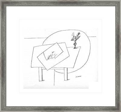 New Yorker November 5th, 1966 Framed Print by Saul Steinberg
