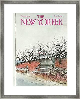 New Yorker November 6th, 1978 Framed Print by Arthur Getz