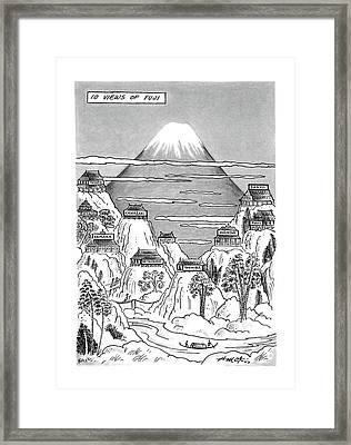 New Yorker November 9th, 1987 Framed Print by Henry Martin