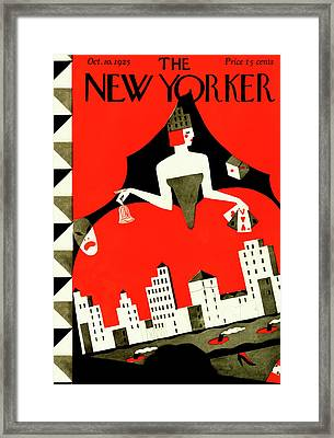New Yorker October 10th, 1925 Framed Print by Ilonka Karasz