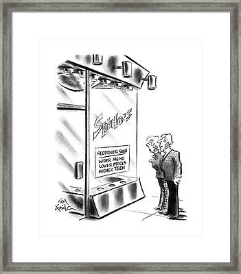 New Yorker October 10th, 1988 Framed Print by Ed Fisher