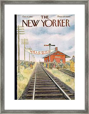New Yorker October 11th, 1952 Framed Print by Perry Barlow