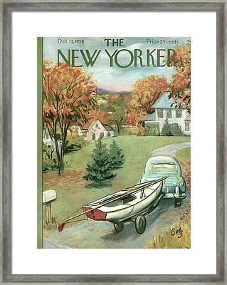New Yorker October 11th, 1958 Framed Print