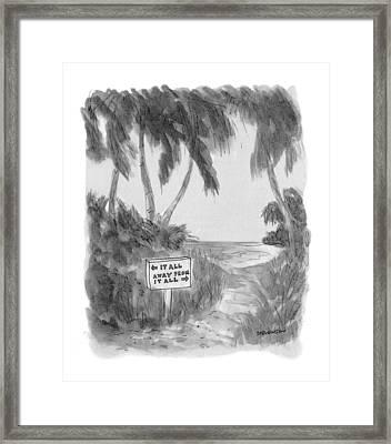 New Yorker October 13th, 1975 Framed Print by James Stevenson