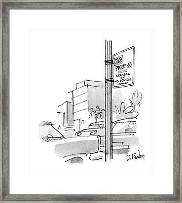 New Yorker October 13th, 1986 Framed Print by Dana Fradon