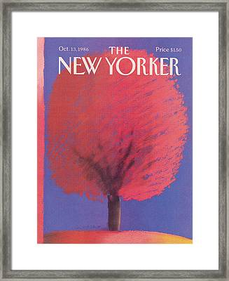New Yorker October 13th, 1986 Framed Print by Merle Nacht