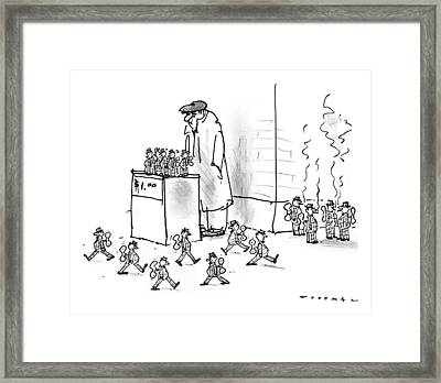 New Yorker October 13th, 1997 Framed Print by Bill Woodman