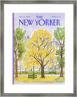 New Yorker October 14th, 1985 Framed Print by Barbara Westman