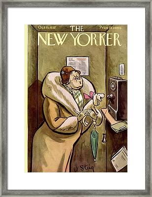 New Yorker October 15th, 1932 Framed Print by William Steig