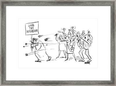 New Yorker October 15th, 1966 Framed Print by Robert Weber