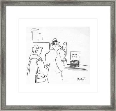 New Yorker October 15th, 1979 Framed Print by Frank Modell