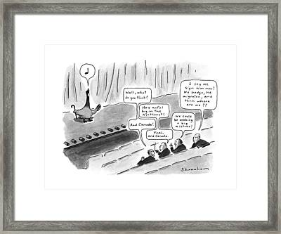New Yorker October 15th, 1990 Framed Print