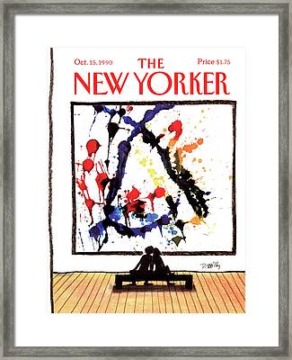 New Yorker October 15th, 1990 Framed Print by Donald Reilly
