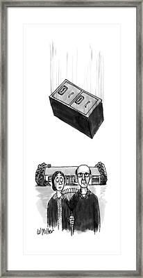 New Yorker October 15th, 1990 Framed Print by Warren Mille