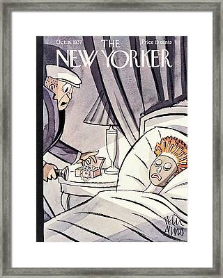 New Yorker October 16th, 1937 Framed Print by Peter Arno