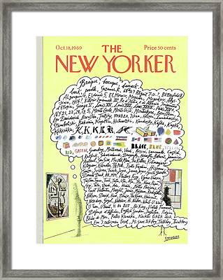 New Yorker October 18th, 1969 Framed Print