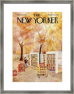 New Yorker October 18th, 1976 Framed Print by Charles E. Martin