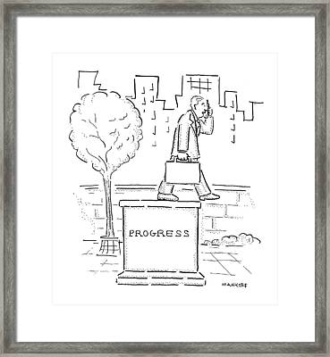 New Yorker October 18th, 1999 Framed Print by Robert Mankoff