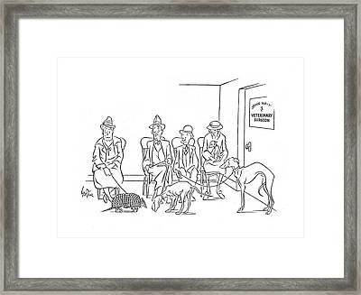 New Yorker October 19th, 1940 Framed Print by George Price