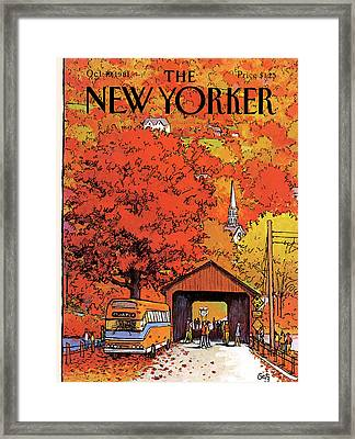 New Yorker October 19th, 1981 Framed Print by Arthur Getz