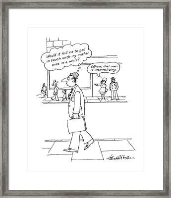 New Yorker October 19th, 1987 Framed Print