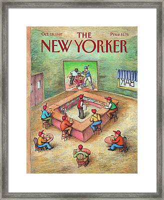 New Yorker October 19th, 1987 Framed Print