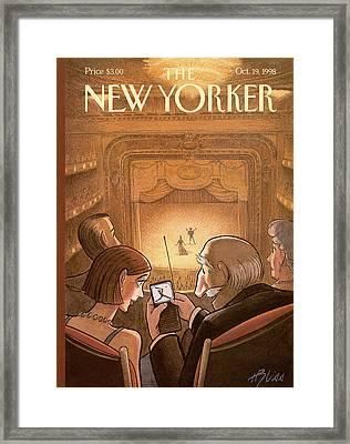 New Yorker October 19th, 1998 Framed Print