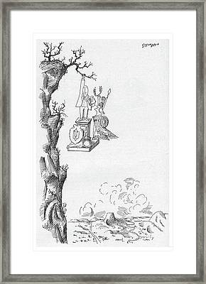 New Yorker October 1st, 1960 Framed Print by Saul Steinberg