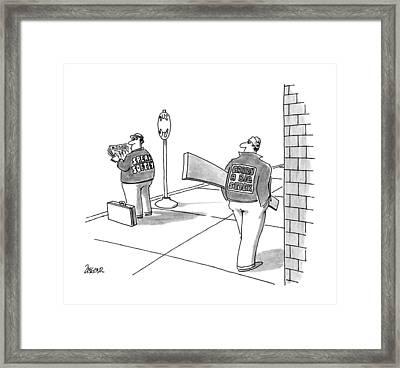 New Yorker October 1st, 1990 Framed Print by Jack Ziegler