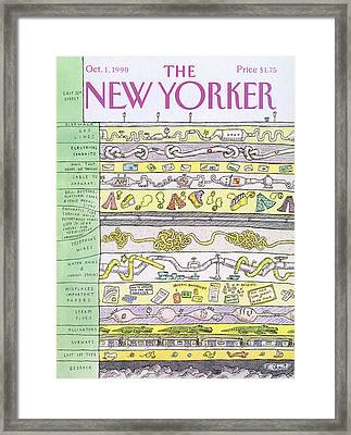 New Yorker October 1st, 1990 Framed Print by Roz Chast