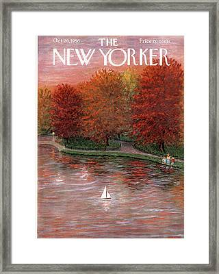 New Yorker October 20th, 1956 Framed Print by Edna Eicke
