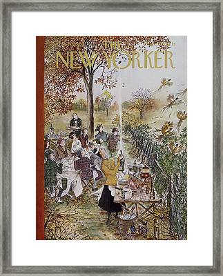 New Yorker October 20th, 1962 Framed Print by Mary Petty