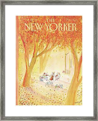 New Yorker October 20th, 1980 Framed Print by Jean-Jacques Sempe