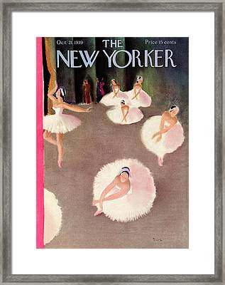 New Yorker October 21st, 1939 Framed Print by Susanne Suba