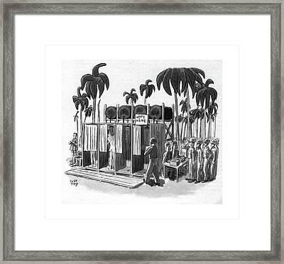 New Yorker October 21st, 1944 Framed Print by Robert J. Day
